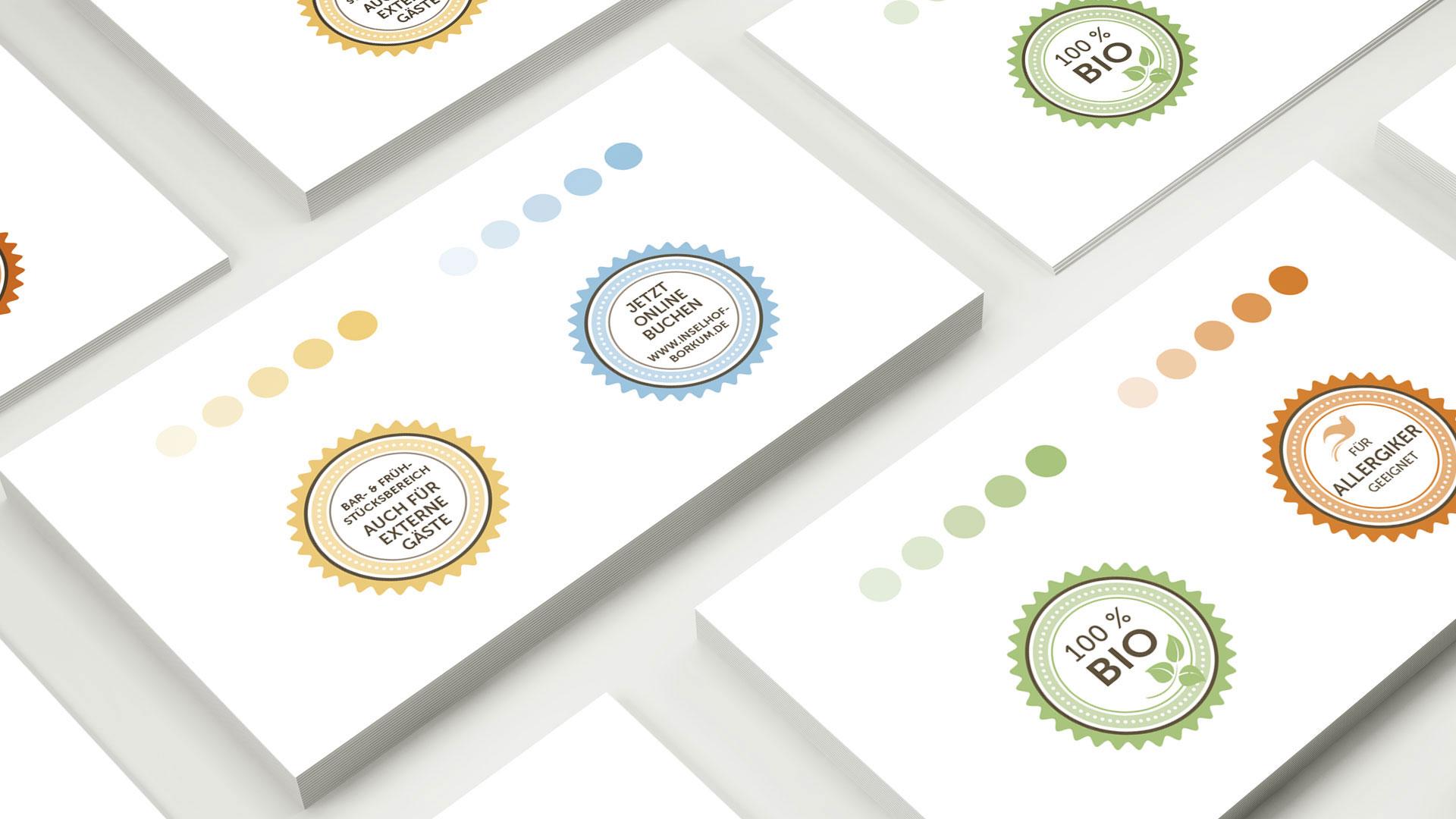 """artventura-Projekt Coporate-Design-Entwicklung für das 4-Sterne-Hotel """"Inselhof Borkum"""": Farbwelten und Icons"""