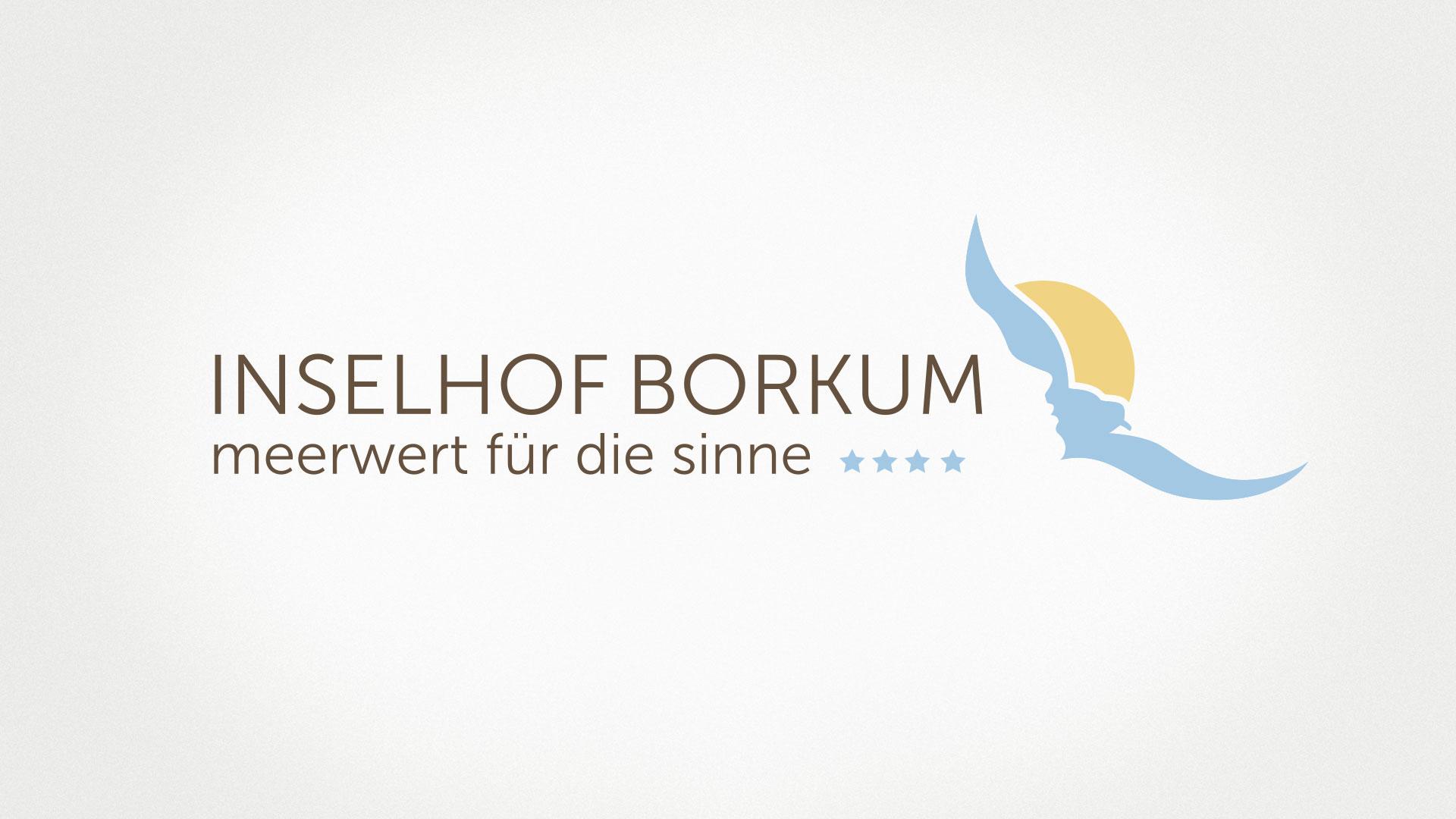 """artventura-Projekt Coporate-Design-Entwicklung für das 4-Sterne-Hotel """"Inselhof Borkum"""": Logo und Claim"""