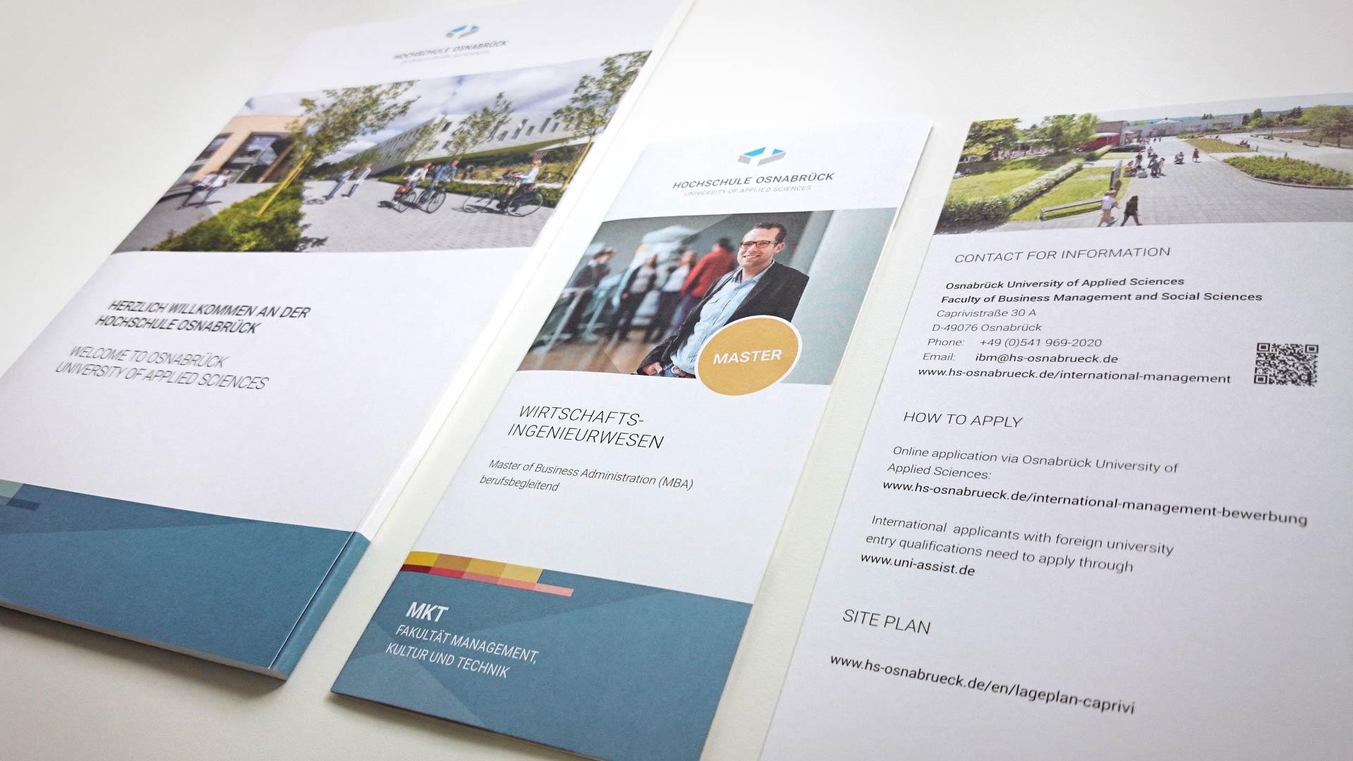 artventura-Projekt Corporate Design Entwicklung der Hochschule Osnabrück:Pressemappe und Flyer