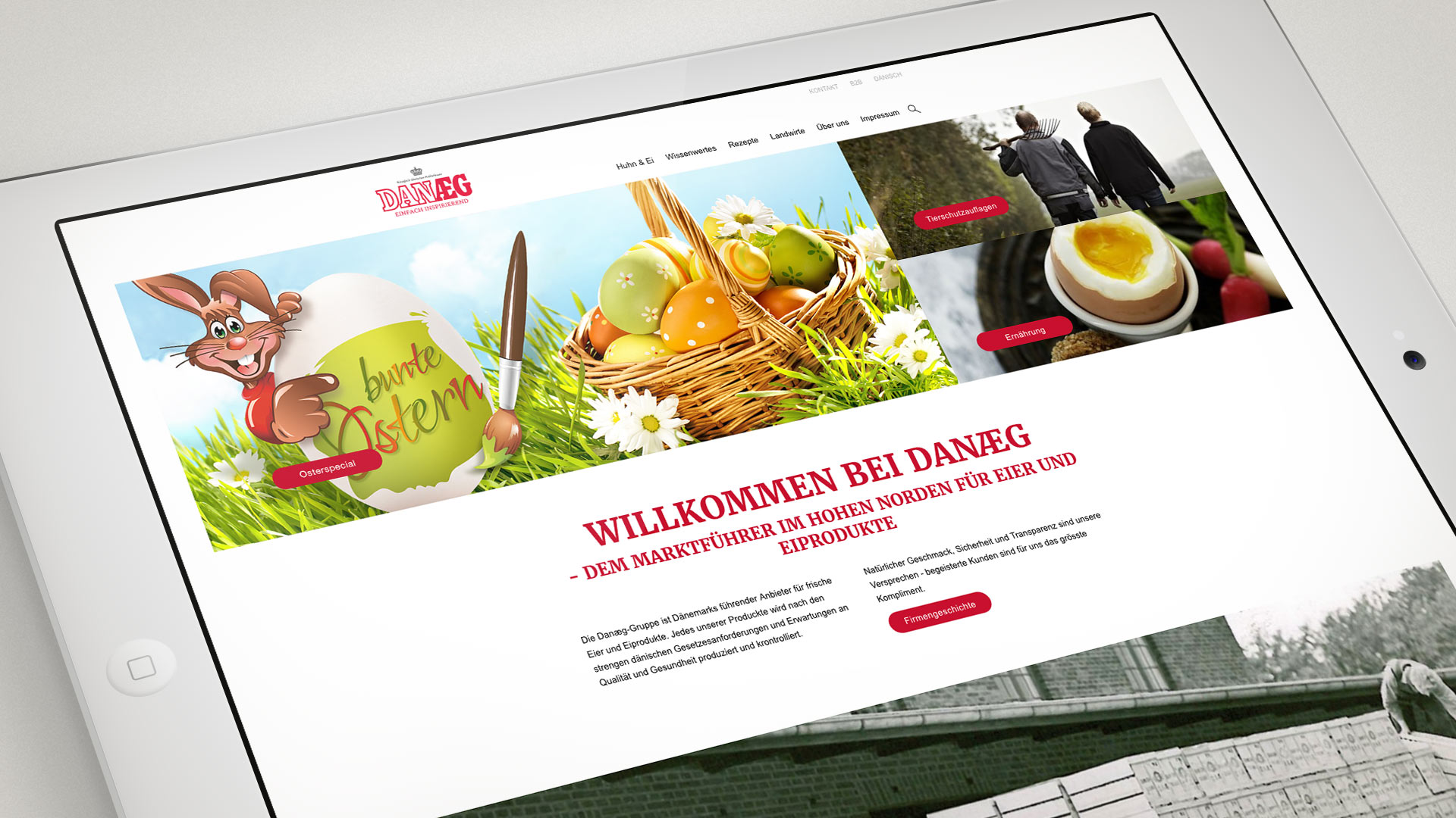 "artventura-Projekt Web-Design für DANÆG A/S:Kampagnen-Banner ""Ostern"""
