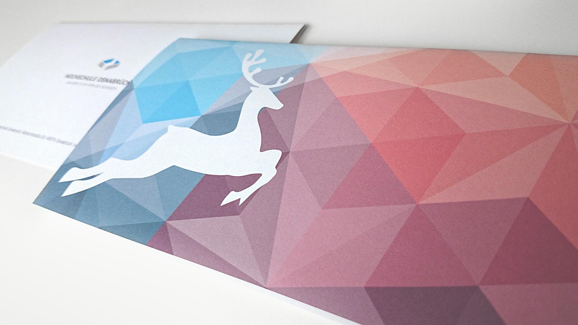artventura-Projekt Corporate Design Entwicklung der Hochschule Osnabrück:Weihnachtskarte