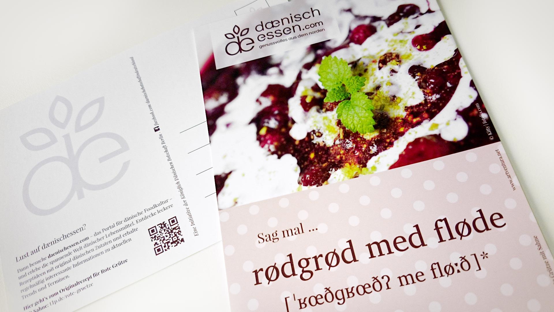 artventura-Projekt daenischessen.com:Gestaltung und Produktion einer Postkarte zur Portalvermarktung
