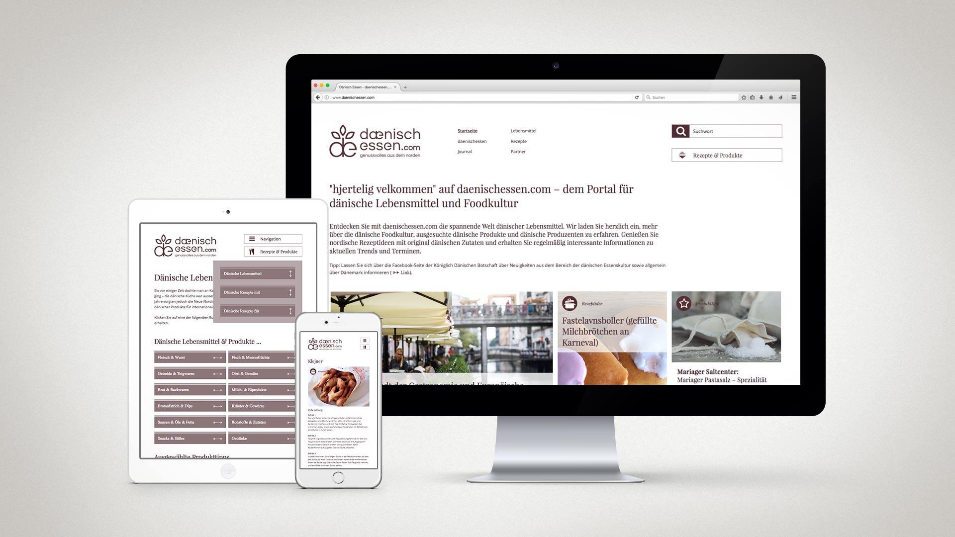 artventura-Projekt daenischessen.com:Responsives Webdesign und Umsetzung mit Typo3