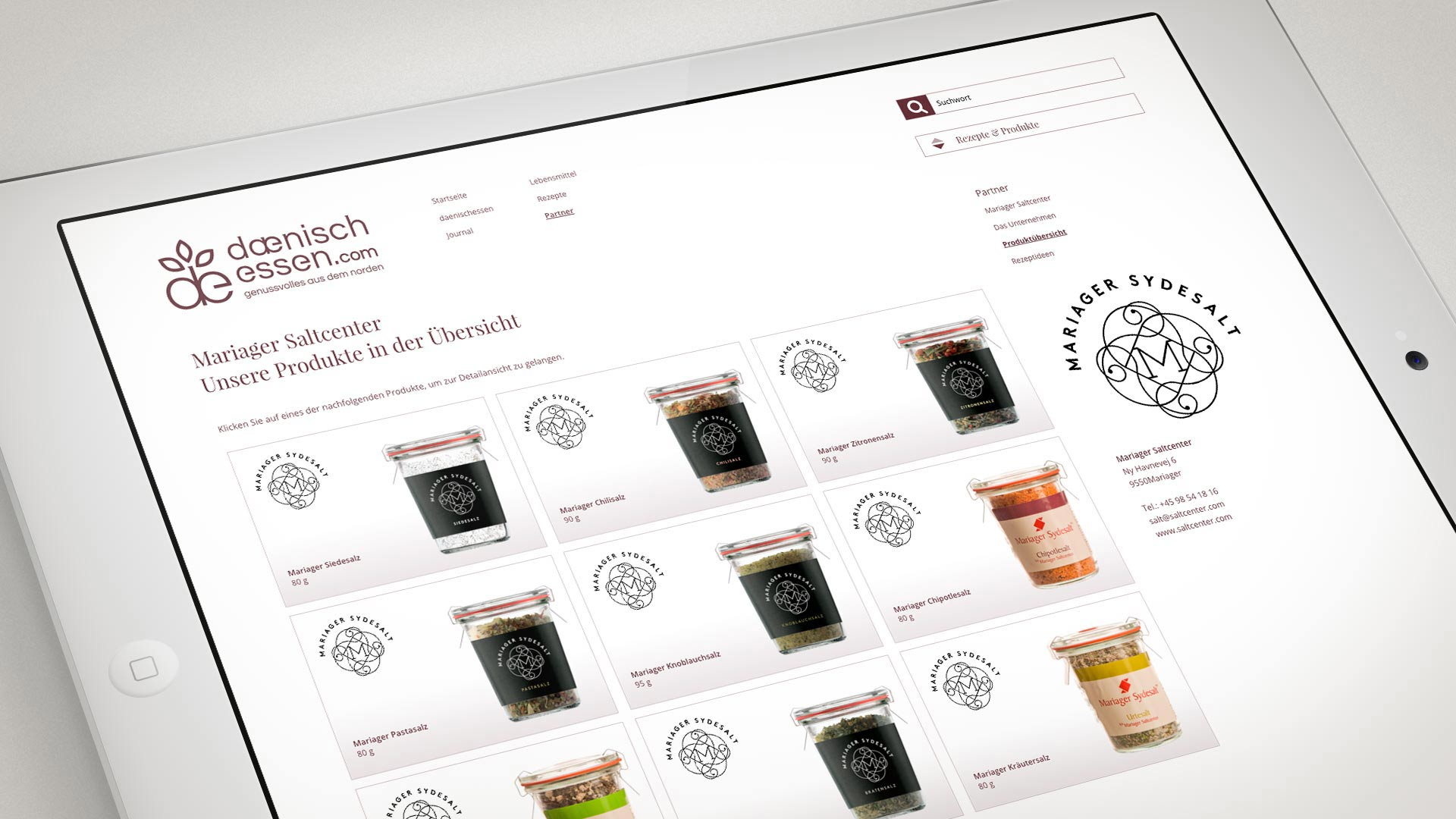 artventura-Projekt daenischessen.com:Lieferantenportal mit eigener Produktübersicht