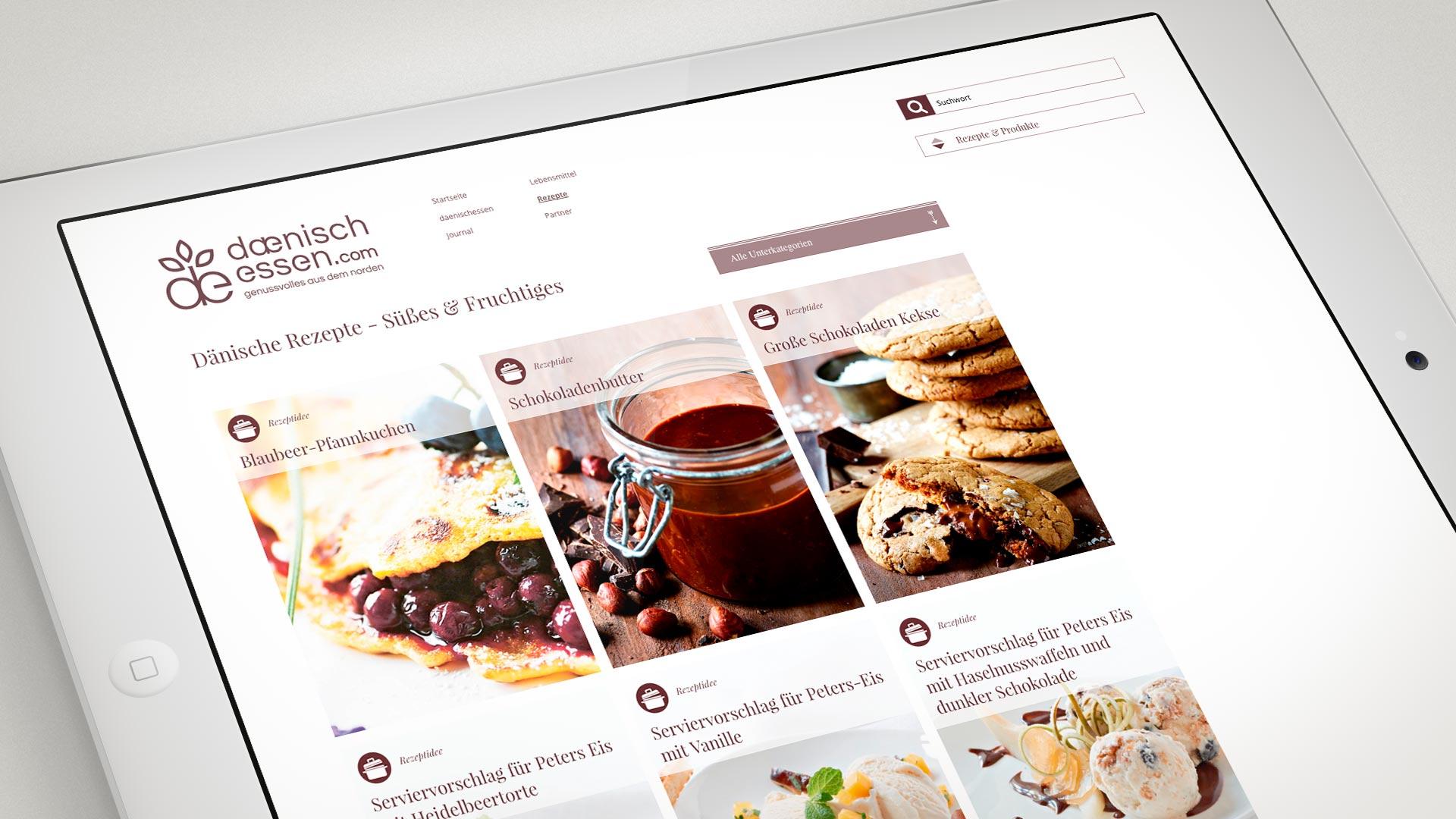 artventura-Projekt daenischessen.com:Kategorisierte Rezept-Teaser