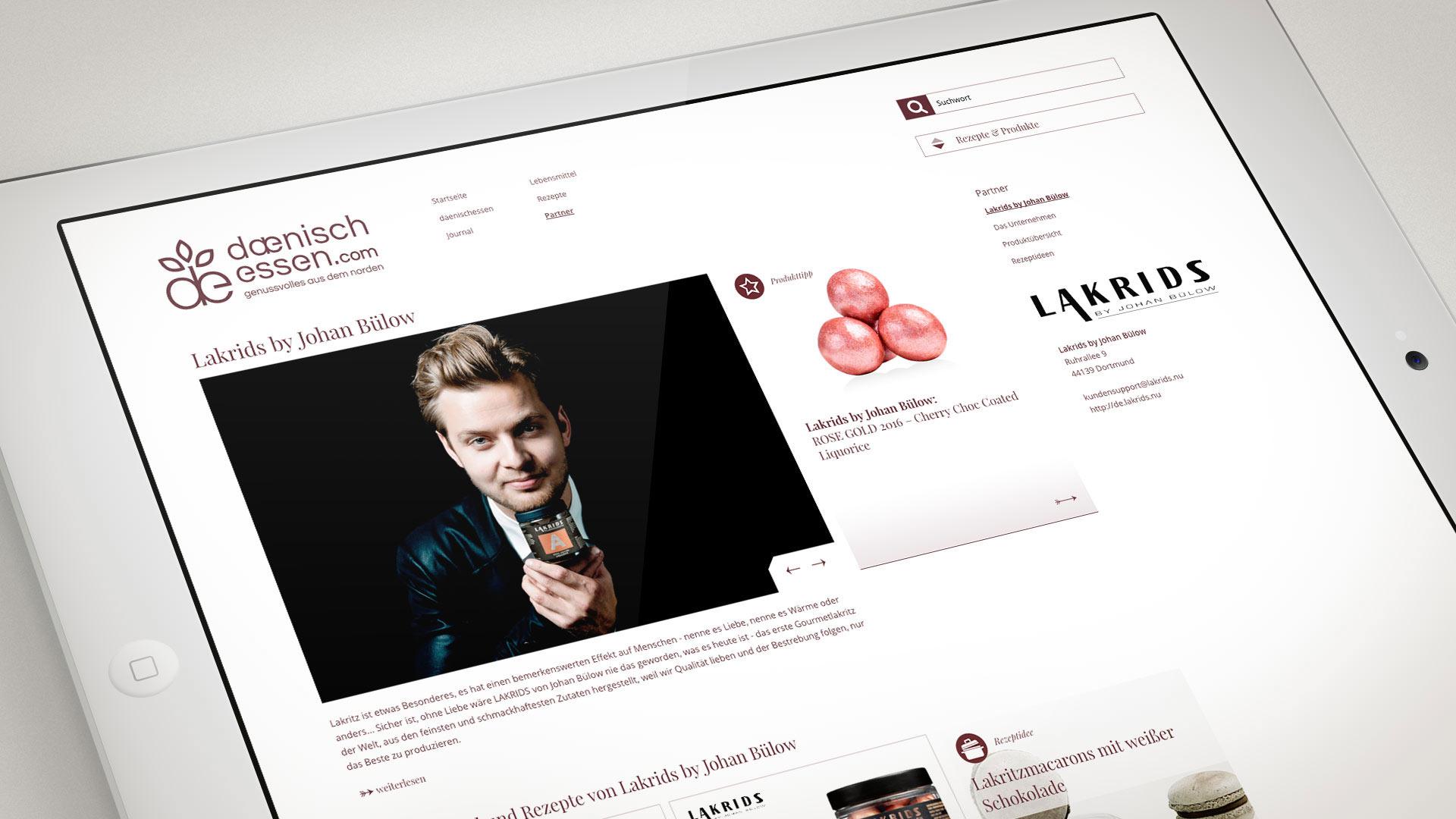 artventura-Projekt daenischessen.com:Dynamische Homepage eines Lieferantenportals